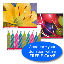Announce your donation with a FREE E-Card!