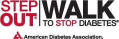 Step Out: Walk to Stop Diabetes Logo