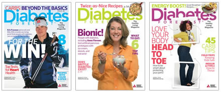 Cover thumbnails for Diabetes Forecast Magazines